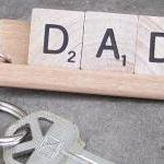 DAD Scrabble Tile Keychain